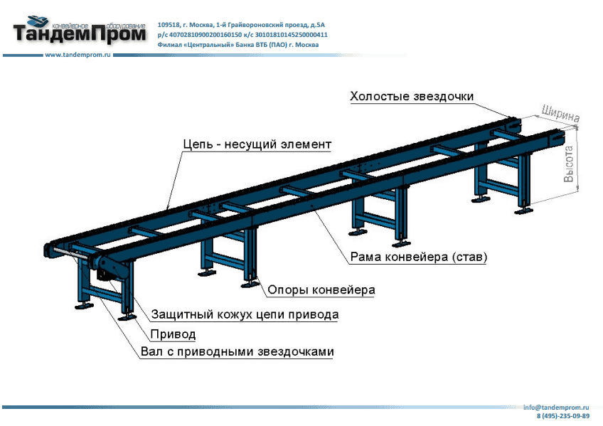 Цепной конвейер комплектующие отзывы о фольксвагене транспортере т5